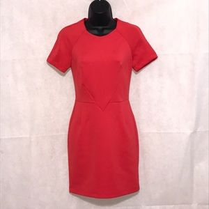 Topshop Fitted Red Dress Size 2–WD1